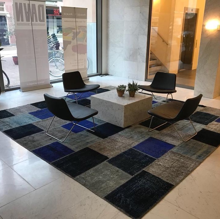 Entrance hall Square patchwork rug 3.5 x 3.5 meters