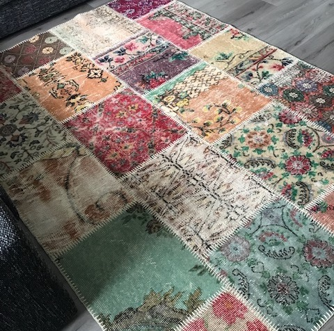 Living room Vintage patchwork rugvarious colors